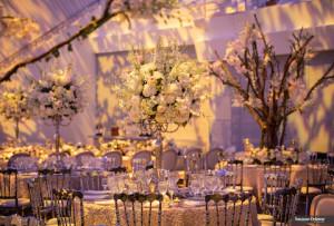 Royal romantic banquet setting