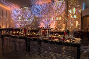 Majestic royal lighting and table settings