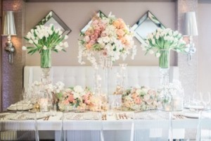 Elegant classic floral settings